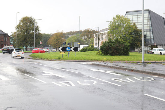 On most drives in the UK, you're likely to encounter a roundabout.