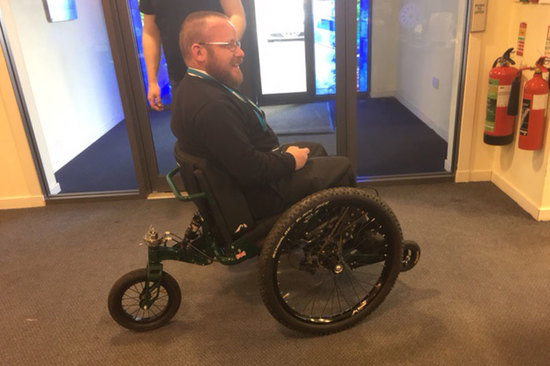 Scott trying out his Mountain Trike