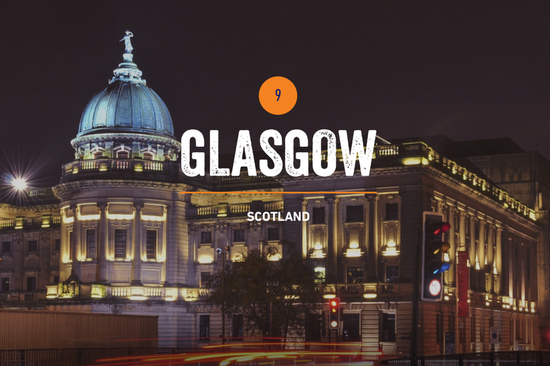 """""""Cultural powerhouse"""" Glasgow makes the Top 10. Image: Rough Guides."""