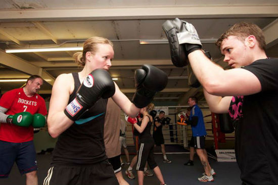 Laura boxes competitively for the Highland Boxing Academy