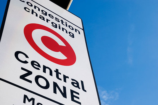 London's congestion charges start at £11.50 per day