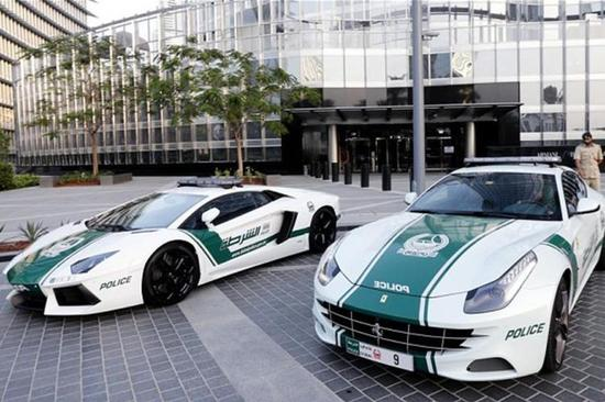 The Dubai police have the most expensive fleet of cars in the world. Image: AFP