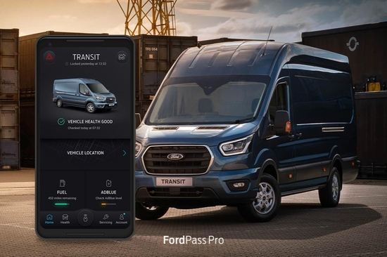 The FordPass Pro app helps you keep track of your fleet.