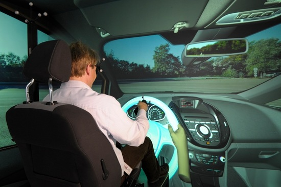 The 3D CAVE enables Ford to test their vehicle prototypes in an animated external environment with real hazards and obstacles