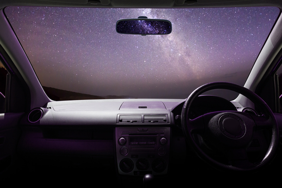 Take a drive to a remote location and enjoy some star-gazing from the comfort of your car.