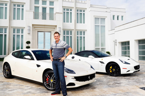 Poulter's latest toy is a Ferrari F12 in Grigio Silverstone Matte. Image: Golf Digest