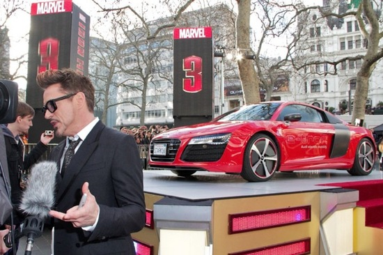 Audi has announced that the R8 E-Tron featured in the upcoming film will be brought to the market in 2013. Image: Audi