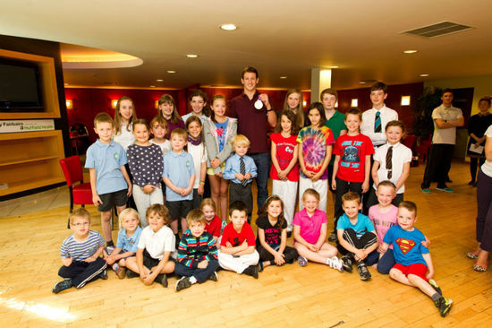 Olympic stars of the future? Michael Jamieson shared his top tips with local children