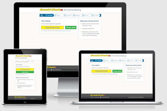 Arnold Clark online service booking works seamlessly across mobile devices and tablet computers, including on the Apple iPhone and iPad