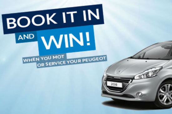 Win a Peugeot 208 when you enter the draw at our Peugeot branches