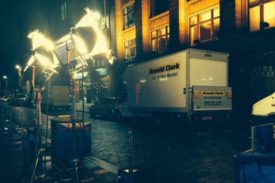 Lights, camera, action... our vans can be seen on many a film set