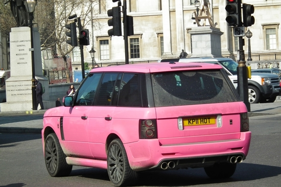 Katie Price's pink car disguises her perfectly from the paparazzi