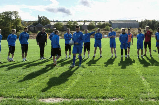 The professionals at SJFC get ready to show us how it's done