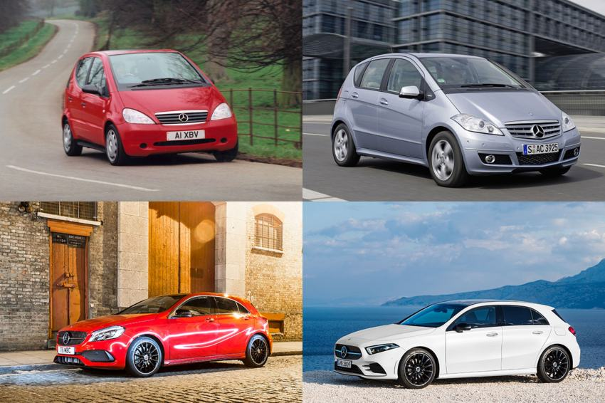 The Mercedes-Benz A Class through the years