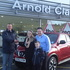 """Salesman Shaun Redford handing over the keys to Windy Wilson, girlfriend Gusty and """"Wee Windy"""""""