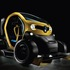 The Twizy F1 sits on the wheels of a single seater race car, comes fitted with front and rear wings and is finished off in Renaultsport's signature yellow paint. Image: Renault
